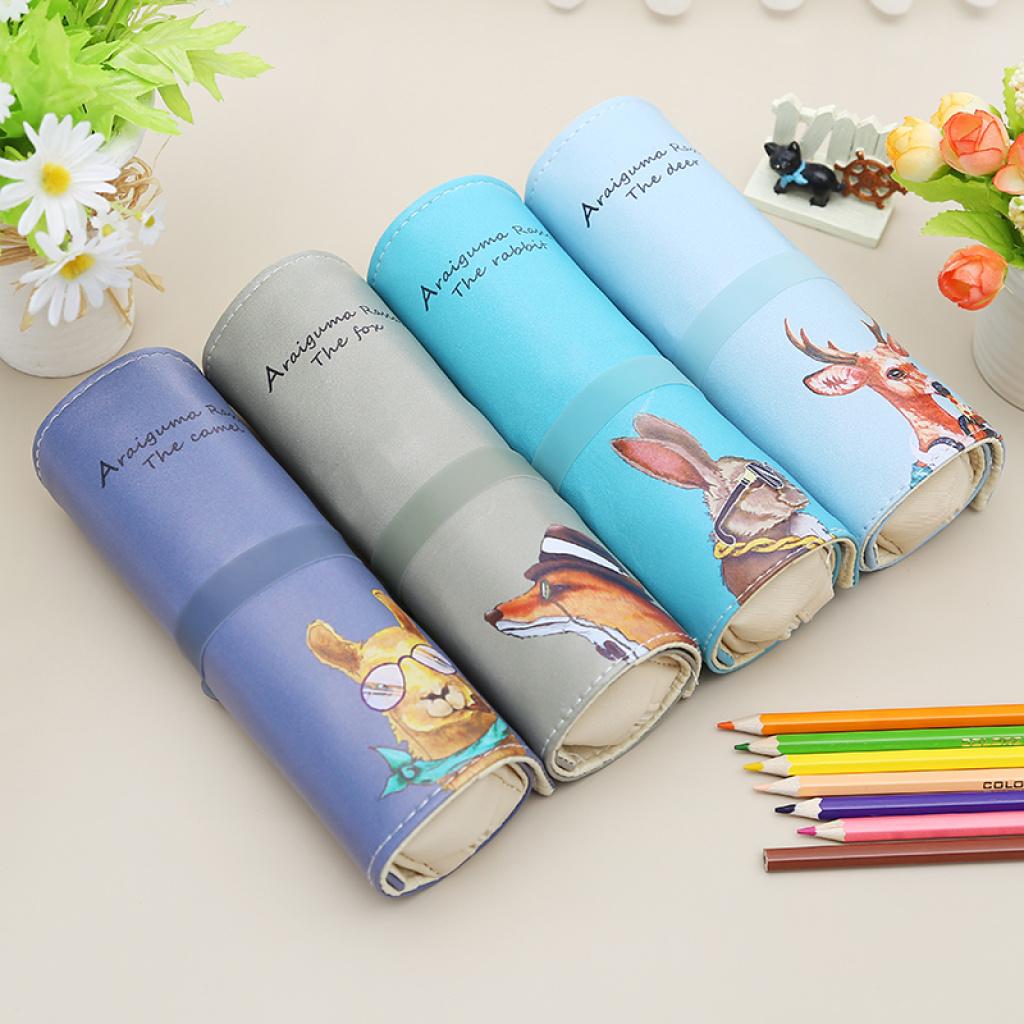 新款时尚小动物内带方包卷笔袋
