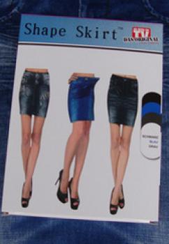 Bag hip skirt SHAPE caresse jeans printed denim skirt imitation denim skirt