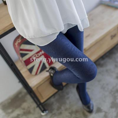 In 2017 the new T file lace Pantyhose Stockings no hook silk summer foot navy blue socks