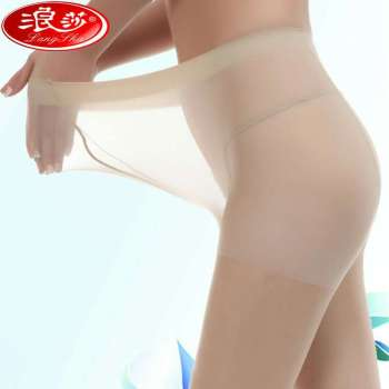 Langsha stockings genuine female ultra-thin section of large wide-body core wire plus file lengthened pantyhose summer