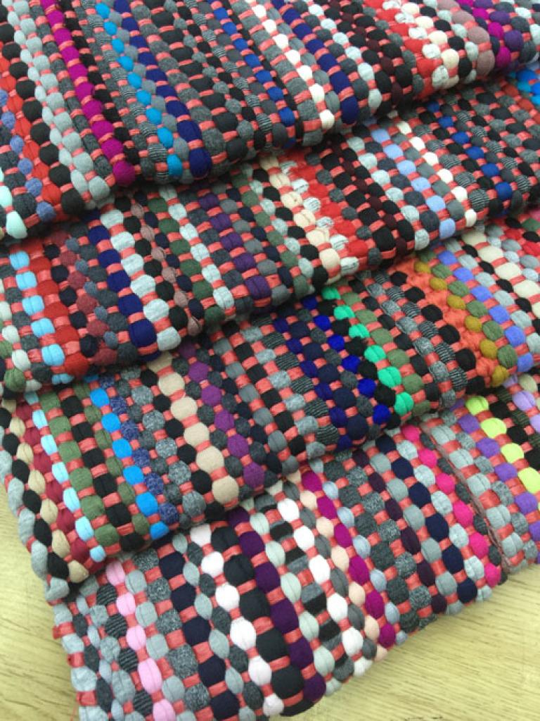 布条编织垫 客厅地毯卧室卫生间浴室地毯地垫 防滑门垫