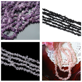 Natural Amethyst Stone semi-finished products wholesale 90cm irregular scattered bead drilling
