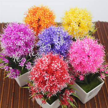 Violet flowers potted plant simulation Home Furnishing living room furnishings decorative plastic flowers