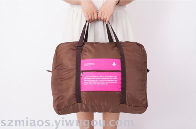 韩国旅行飞机包 可折叠收纳袋防水旅行袋 _义