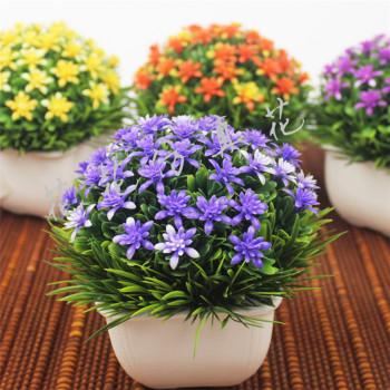 Garden green grass ball simulation decoration decoration potted bonsai flowers