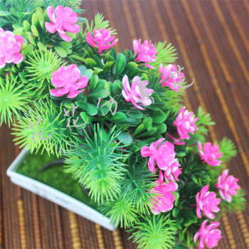 Simulation of plant flowers Home Furnishing yingkesong potted flower decoration decoration room