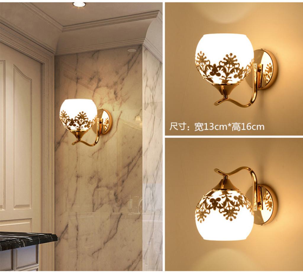 现代简约led壁灯卧室床头灯阳台过道客厅复古创意美式欧式墙壁