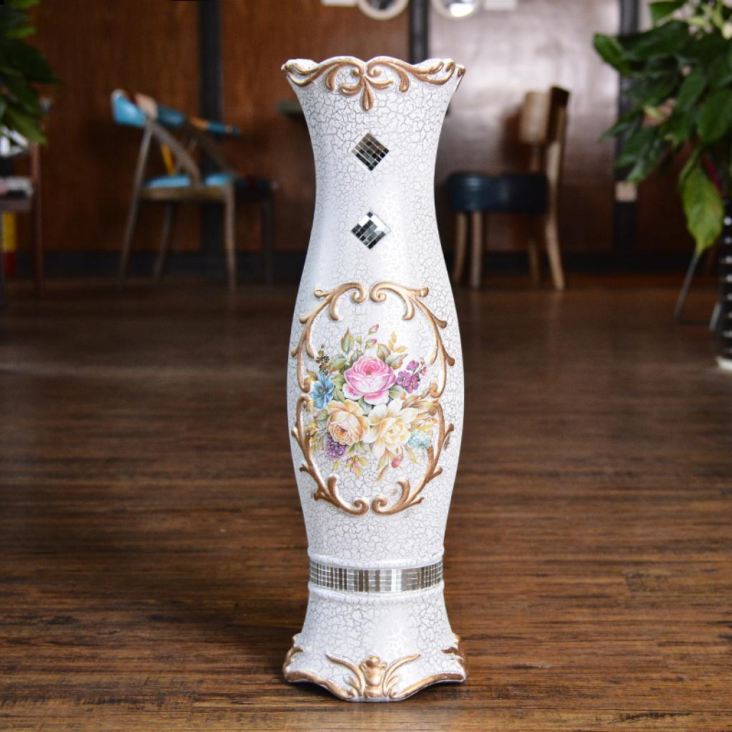 彩色欧式陶瓷花器 落地大花瓶摆件 婚庆家居客厅插花摆饰工艺品