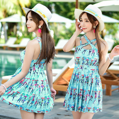 Fashion sexy slim slim skirt one-piece swimsuit