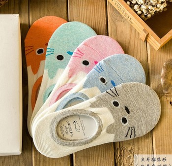 Lady socks in spring and summer the boat socks five pairs of socks cotton