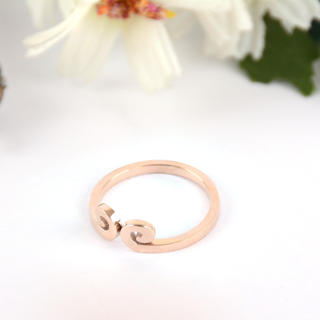 孙悟空爱你一万年紧箍咒戒指 钛钢18k玫瑰金不褪色