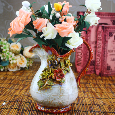 High temperature firing hand-made flower-ear vase
