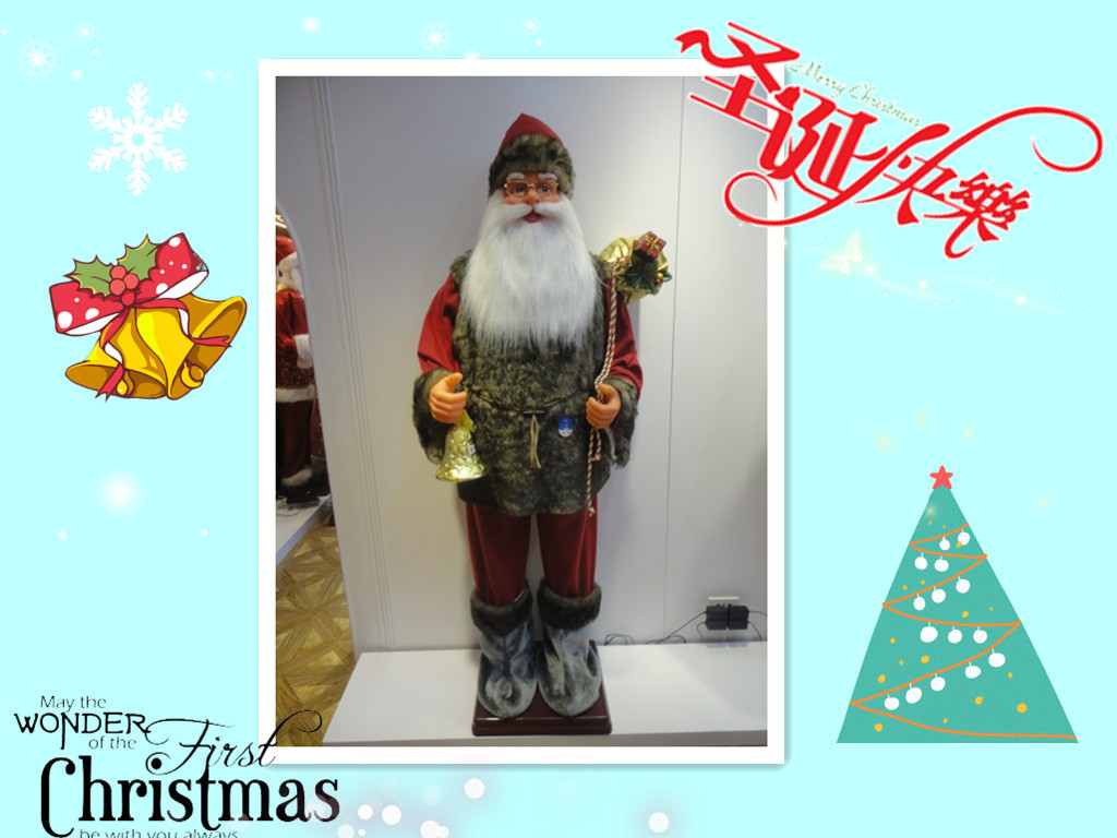 912318 m luxury santa claus dancing christmas gift decorations