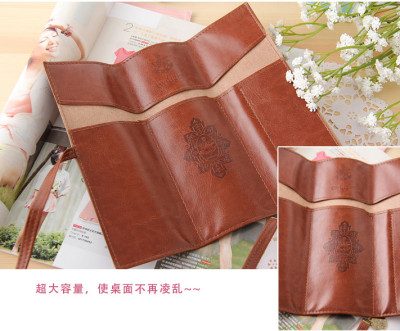 Professional customized Korea creative stationery bag wholesale Twilight PU leather bag wholesale volume