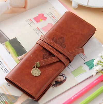 Professional customized Korea creative stationery bag wholesale Twilight PU leather bag wholesale volume