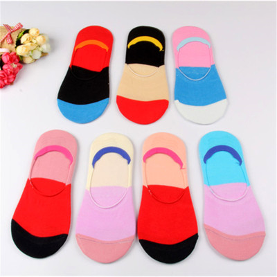 2017 new women's boat socks ribbon silicone anti slip