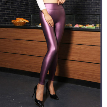 Europe PU feet pencil pants Leggings color leather pants