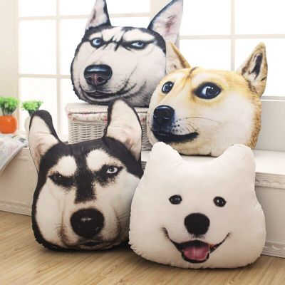 Creative pillow head cushion simulation Ha J Chi Bbu Va Va Satsuma washable plush toys