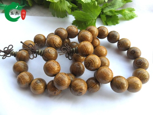 Factory direct sales of natural 15MM wings of wood Beads Bracelet wholesale lap beaded bracelets for men and women