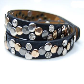 fashion bracelet multi layer leather bracelet punk style men and women hand chain
