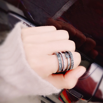 2017 new environmental protection high-grade personality ring men and women neutral jewelry