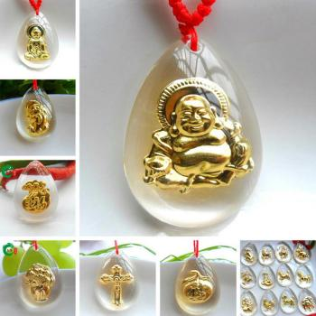 $ Crystal Crystal inlay Jin Buddha pendants 2 shops selling jewelry wander about its best selling products