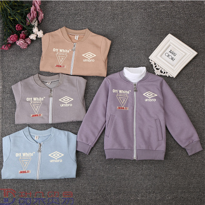selling male children's wear T-shirt long sleeve 2018 spring children's coat comfortable embroidered coat.