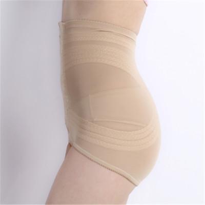 Rhine strong waist abdomen and hip gauze bondage pants (apricot)