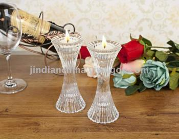 Factory direct European transparent crystal glass candle holder