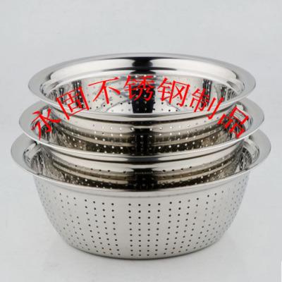 The multipurpose washing rice sieve stainless steel