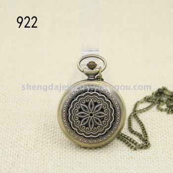 Palace Flower quartz quartz watch large clamshell retro Pocket Watch Necklace Watch and watch