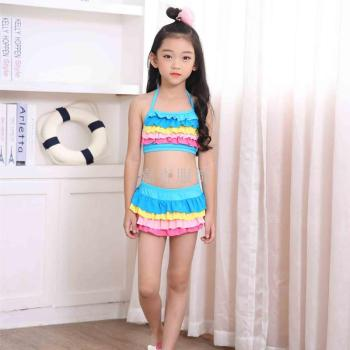 2017 new children's swimsuit girl cute split Swimsuit Bikini