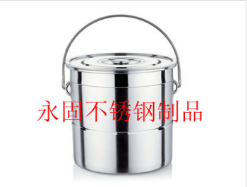 Stainless steel portable multi-purpose soup bucket