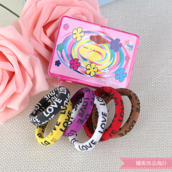 Children's hair baby girls high elastic elastic towel ring does not damage the hair hair accessories