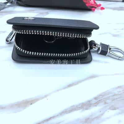 High-grade leather logo key bag leather key bag