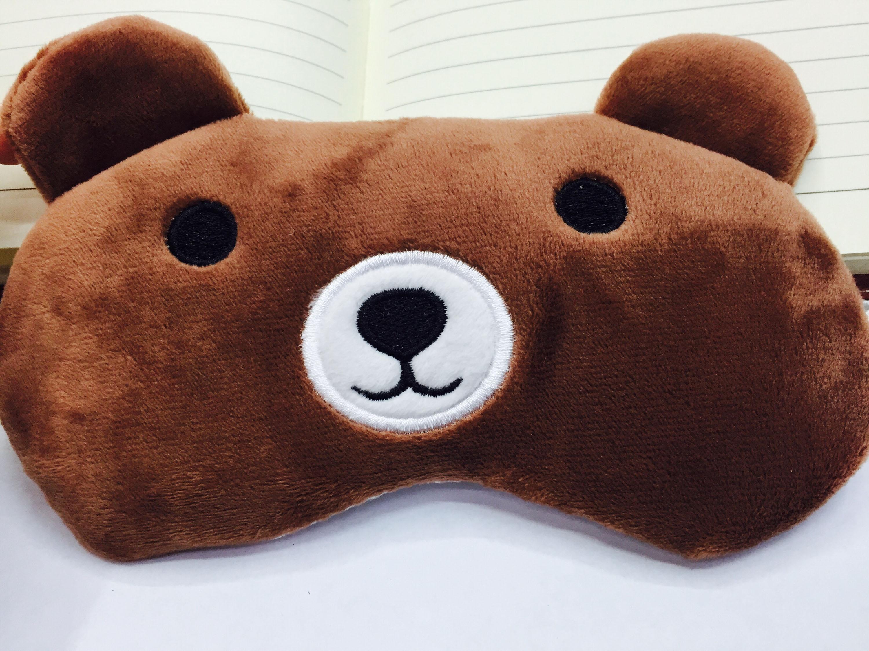 燃油DIY眼罩熊图纸可含卡通_佳美冰袋_义乌传感器簧布艺式棕熊雌图片