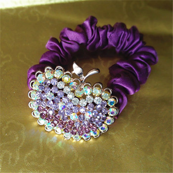 The rubber band to tie her hair hair rope cloth ring female headdress Apple Hair Barrette