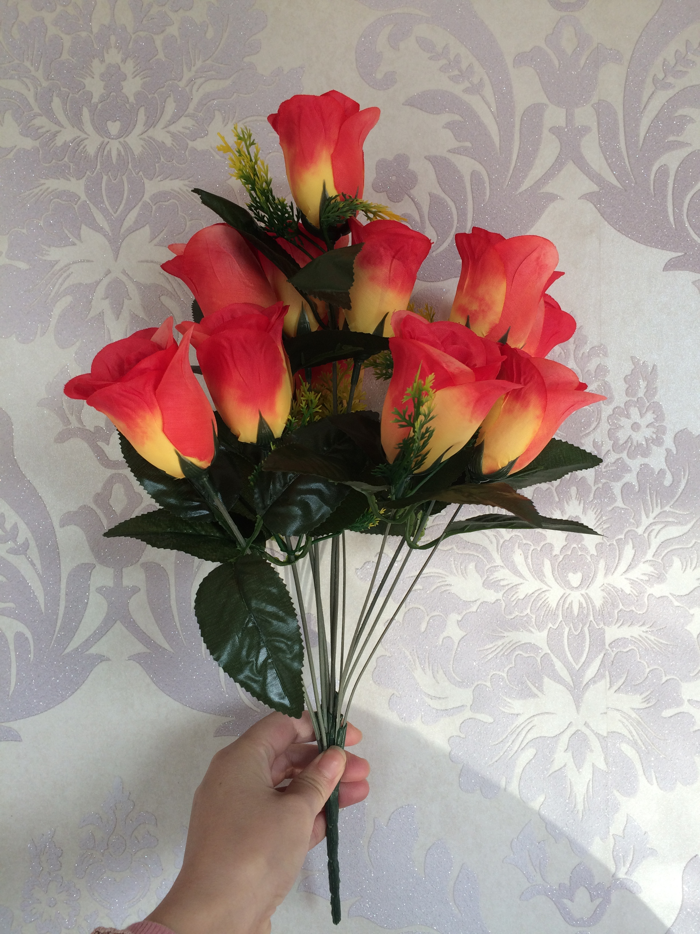 Supply 12 Head Spring Decorative Flower Flower Simulation Silk