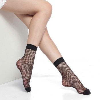 Taking the micro explosion of retro fashion black mesh mesh hollow hole fishing sexy women socks