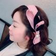 On the Korean Bow Headband fabric wide lattice new gauze hair headdress head hoop