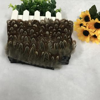The sun spot wholesale pheasant feather cloth Dachang DIA accessories stage props