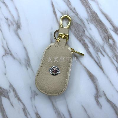 High-grade leather logo leather key bag key protective sleeve key protective sleeve