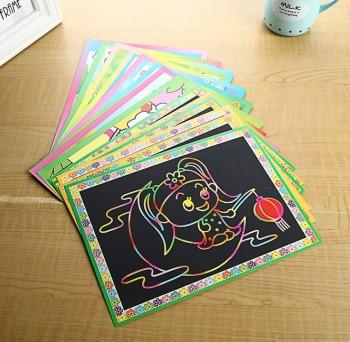 涂鸦本 大号儿童卡通diy刮刮画 刮画本刮画纸 tv新奇特产品