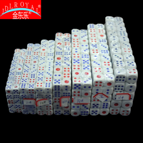 Wholesale red blue dice are dice dice, shoot child/dump/dice cup dice a pack of 100 tablets of bar