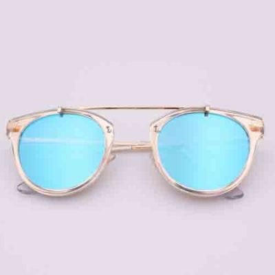 The new metal decorative street fashion sunglasses Fashion colorful color film reflective Cat Eye Sunglasses