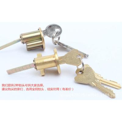 The old wooden door lock tau double insurance lock lock lock two thick iron lock