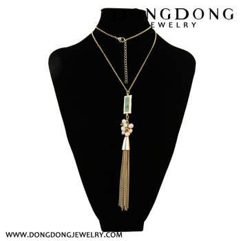 The atmosphere of the fashion female decoration long metal hanging tassel sweater chain