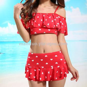 Fashion show thin Princess split swimsuit ladies fashion swimwear
