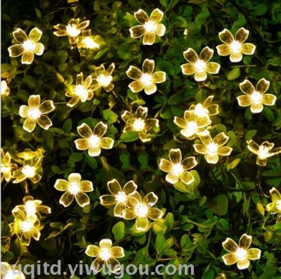 Sakura festival decoration lamp string solar 50led lights string holiday lights Japanese Cherry Blossom string