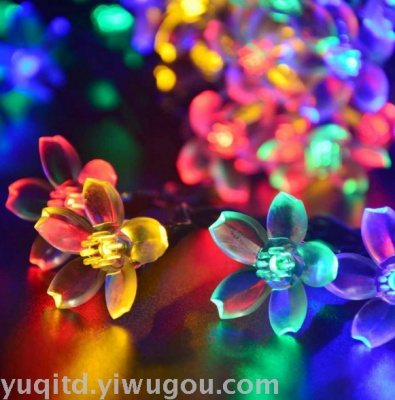 Sakura festival decoration lamp string solar 50led lights string holiday lights Japanese Cherry Blossom string